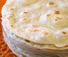 "tortillas de harina...homemade, right off the ""comal"" with a little butter, ..oh my!! :)"