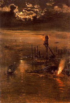 Antonio Muñoz Degrain (Valencia, 1840 – Málaga, 1924) - night
