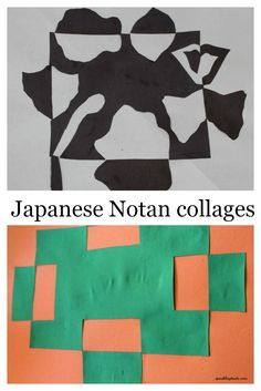 Notan Japanese Collage. A simple and fun activity!