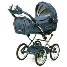 2014 baby strollers | Knorr Baby Classico Pram Stroller Air Tyres blue - Collection 2014 on ...