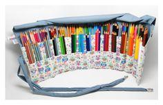 estojo de rolo para 105 lápis de cor!