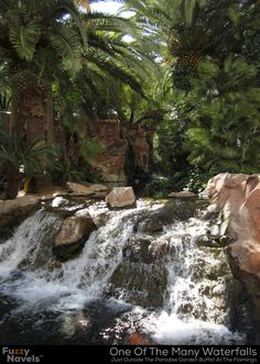"Waterfall Outside Paradise Garden Buffet At The Flamingo Casino (From the post ""Paradise Garden Buffet"" - FuzzyNavels.com)"