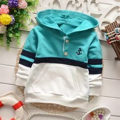 yrs children clothing boys T-shirts fashion spring autumn kids casual patchworking buttons pockets stripe hoodies tee shirt _ - AliExpress Mobile Version - Baby Outfits, Toddler Outfits, Kids Outfits, Boys Hoodies, Boys T Shirts, Sweatshirts, Kids Clothes Boys, Children Clothing, Girl Falling