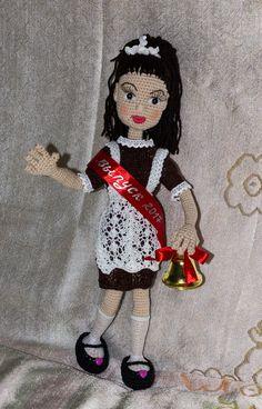 вязаная кукла выпускница
