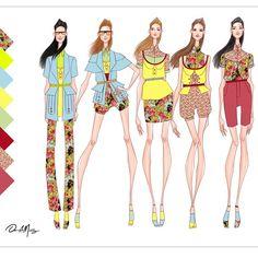 Concept collection using colorful prints. All original designs. Follow me for updates.  #fashion #fashiondesigner #fashionaddict #fashionillustration #fashionillustrator #design #designer #latindesigner #print #floral #spring #danielmunoz #danielmunozfashion #art #original #followme #remembermyname #nyfw #vogue #trend