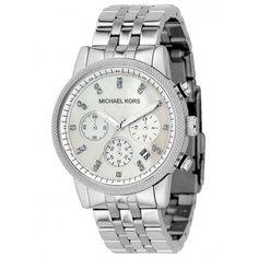 c01beb2c1bae Michael Kors MK5020 Ritz Chronograph Watch Michael Kors Silver Bag
