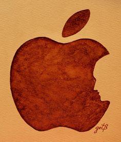 Steve Jobs Tribut Paintings Paintings Painting - Think Different Steve Jobs 3 by Georgeta  Blanaru