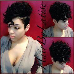 #haircut #blackwomen #hellacute #curls