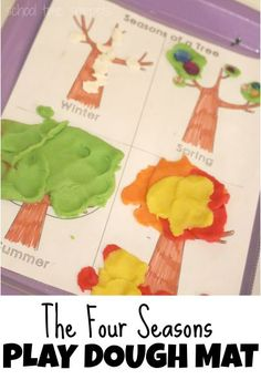 Explore the Four Seasons of a Tree with Playdough! Great hands-on activity involving fine motor skills and creative play.