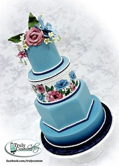 Hand Painted Romance - by TrulyCustom @ CakesDecor.com - cake decorating website