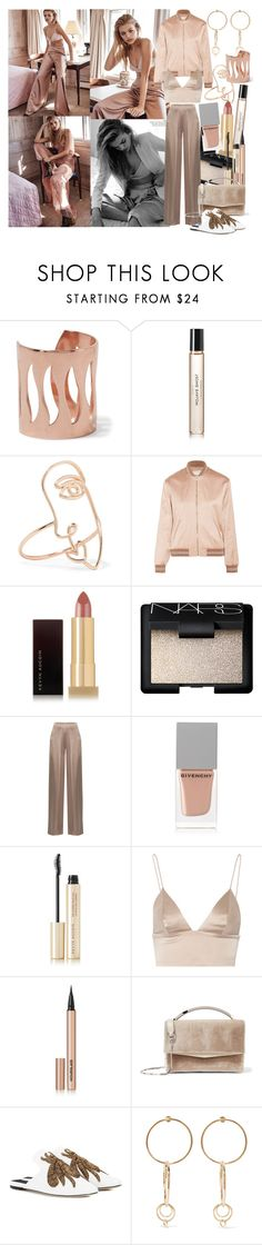 """""""The most beautiful humans are the ones with the heaviest hearts; loving the hardest while hurting the deepest"""" by brownish ❤ liked on Polyvore featuring Aamaya by Priyanka, Byredo, Sarah & Sebastian, Yves Saint Laurent, Kevyn Aucoin, NARS Cosmetics, Cushnie Et Ochs, Givenchy, T By Alexander Wang and Hourglass Cosmetics"""