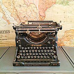 Classic black glass key underwood typewriter by FlickerAndSway