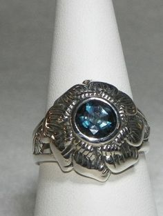 #MaggieMays on Artfire    #ring                     #Guys #Brazilian #Faceted #London #Blue #Topaz #Ring #Sterling #Silver        Guys Brazilian Faceted London Blue Topaz Ring Sterling Silver                                           http://www.seapai.com/product.aspx?PID=272850