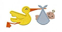 Stork Present Applique - 2 Sizes! | Baby | Machine Embroidery Designs | SWAKembroidery.com Applique for Kids