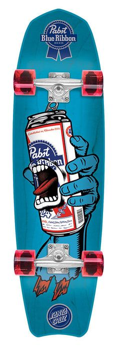 Santa Cruz PBC PABST BLUE RIBBON SCREAMING HAND CRUISER Skateboard PBR