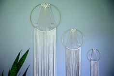 Macrame Wall Hanging 60 or 75 Natural White by BermudaDream