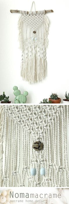 macrame wall hanging can hang & decor your walls and give your home bohochic. this modern macrame gives your room warm feeling, you can hang it in your badroom,living room or any other room.  ^^^^^^^^^^^ Wooden dowel length- 40cm ( 15.5 inches ) Macrame width- 30 cm ( 11.5inches ) Macrame length- 60cm ( 23.5 inches)  ^^^^^^^^^^^ Wall tapestry, Macrame Wall Hanging, Modern Macrame, Dip Dye macrame, Wall Art, Boho Wall Hanging, Macrame Tapestry, boho art, boho decor