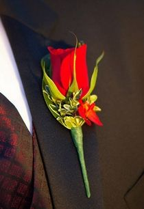 Red Rose Boutonniere | My Good Fairy