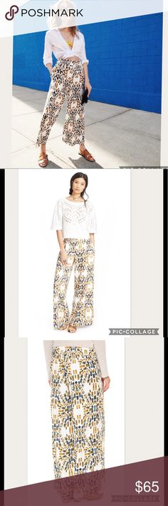 NWT Free People Over Under Écru Wide Legs Pants Manufacturer: Free People Size: S Size Origin: US Manufacturer Color: Ecru Combo Retail: $128.00 Condition: New with tags Style Type: Dress Pants Collection: Free People Bottom Closure: Pull On Waist Across: 15 1/2 Inches Inseam: 31 Inches Rise: 11 Inches Hips Across: 21 Inches Leg Opening: 30 Inches Front Style: Pleated Back Pockets: No Pockets Material: 70% Viscose/27% Linen/3% Spandex Fabric Type: Twill Specialty: Printed Free People Pants…