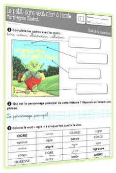 Le petit ogre veut aller à l'école : lifting du fichier de lecture CE1 + ajouts