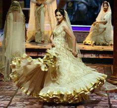 White lehenga wedding dress