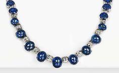 Cabochon Sapphire & Diamond Necklace