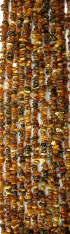 Amber Multi Colored 5-8mm Chip Nugget Beads