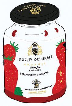 food illustration #strawberry #preserve