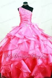 Buy memorable hot pink organza one shoulder prom pageant dress with ruffles from pageant dresses for girls collection, one shoulder neckline ball gowns pageant dress in color,cheap floor length lace up back pageant dress and for first communion . Beauty Pageant Dresses, Pagent Dresses, Little Girl Pageant Dresses, Pageant Dresses For Teens, Ball Gown Dresses, Girls Dresses, Flower Girl Gown, Puffy Dresses, Disney Princess Dresses