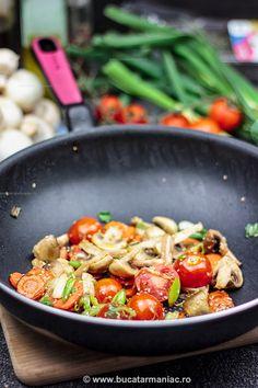 Cat de importanta e tigaia Vegetable Recipes, Chicken Recipes, Kung Pao Chicken, A Food, Vegan, Vegetables, Ethnic Recipes, Vegans, Veggies