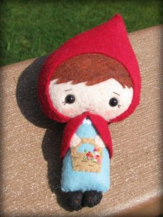Lil Red felt doll  Little Red Riding Hood  by 1SweetStitch on Etsy