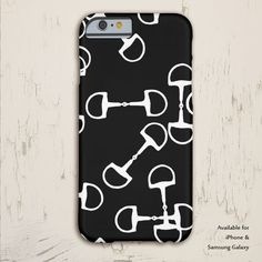 Black and White Horse Bit Pattern Phone Case - The Painting Pony