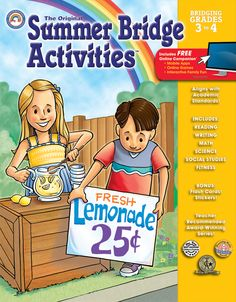 Summer Bridge Activities™ for Grades 3–4 prepares your rising fourth grader for a successful school year. The fun activities in this full-color workbook are designed to review the skills mastered in third grade, preview skills for next year, and help prevent summer learning loss. Summer Bridge Activities™—the perfect way to keep skills sharp all summer long!