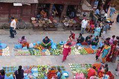 Kathmandu, Marktfrauen auf dem Durbar Square