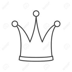 Crown Drawing Outline and Icon Crown. Outline Drawing. Vector On White Background - 18+ Crown Drawing Outline .Crown Drawing Outline and Icon Crown. Outline Drawing. Vector On White Background - Drawingwow.com Crown Outline, Male Crown, Crown Drawing, Crown Images, Outline Drawings, Food, Meals, Yemek, Eten