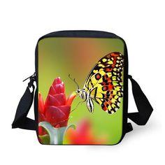 a7e5e811bece Brand Designer Women Messenger Bags Butterfly Shoulder Travel Bag Girls…  School Bags For Boys