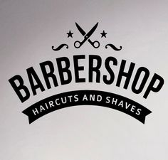 Barbershop Emblem Wall Sticker Logo Hairdressing Salon Vinyl Decal Hairstyles Home Interior Decor Art Murals Window Stickers. Yesterday's price: US $8.99 (7.37 EUR). Today's price: US $6.02 (4.97 EUR). Discount: 33%.