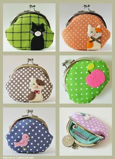 Handmade coin purses, clutches, pouches & accessories by oktak Cute Coin Purse, Diy Purse, Patchwork Bags, Quilted Bag, Patchwork Quilting, Fabric Bags, Fabric Handbags, Cheap Handbags, Luxury Handbags