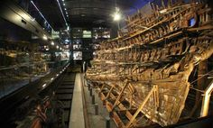 The Mary Rose - Henry VIII's warship, lost in 1545, recovered in 1982 and now on display in Portsmouth Historic Dockyard.