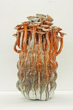 David Hicks Flora (Orange)[BR]2012[BR]36 x 25 x 24 inches[BR]glazed ceramic