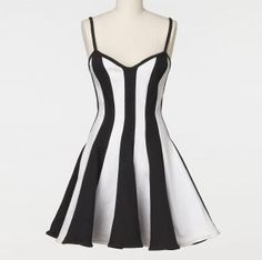 Amber Rose Vintage Climax by Karen Okada Black White Stripe Dress Size