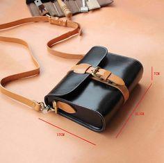 Tanned leather bag/lady's crossbody por PureLeatherArtShop en Etsy