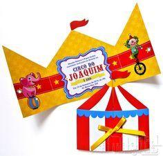 Convite tenda com tema de Circo