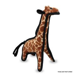 Tuffy Junior Giraffe Dog Toy Tuffy Junior Giraffe Dog Toy is a highly durable fabric toy that will be able to take a lot of punishment from your puppy or young dog that needs their first toy