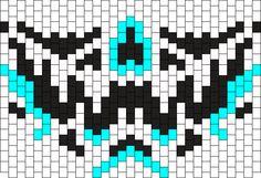 Alienskull2 Kandi Mask Beading Patterns Free, Peyote Patterns, Bead Patterns, Kandi Mask Patterns, Rave Candy, Rave Mask, Kandi Bracelets, Crochet Faces, Mask Ideas