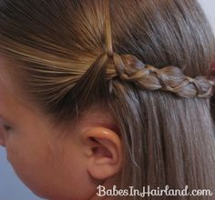 Uneven 3 Strand Braid Video from BabesInHairland.com #braid #video #tutorial #schoolhairstyles