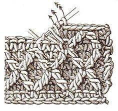 Muster in Reliefhäkelei | Handarbeitswelt