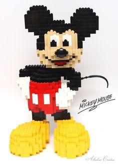 alanboar's Lego Mickey Mouse #mickeymouse -pinned by Vintage specialists Maxon's Attic https://www.etsy.com/shop/MaxonsAttic