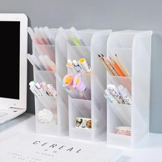 May 2020 - Translucent Pencil Stationery Holder Desk Organizer