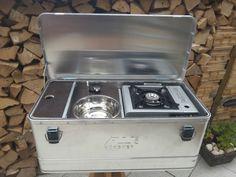 Mobile Camping Küchenbox, Caddy Tramper u.a., Outdoorküche, Zeltküche , Alubox Mehr
